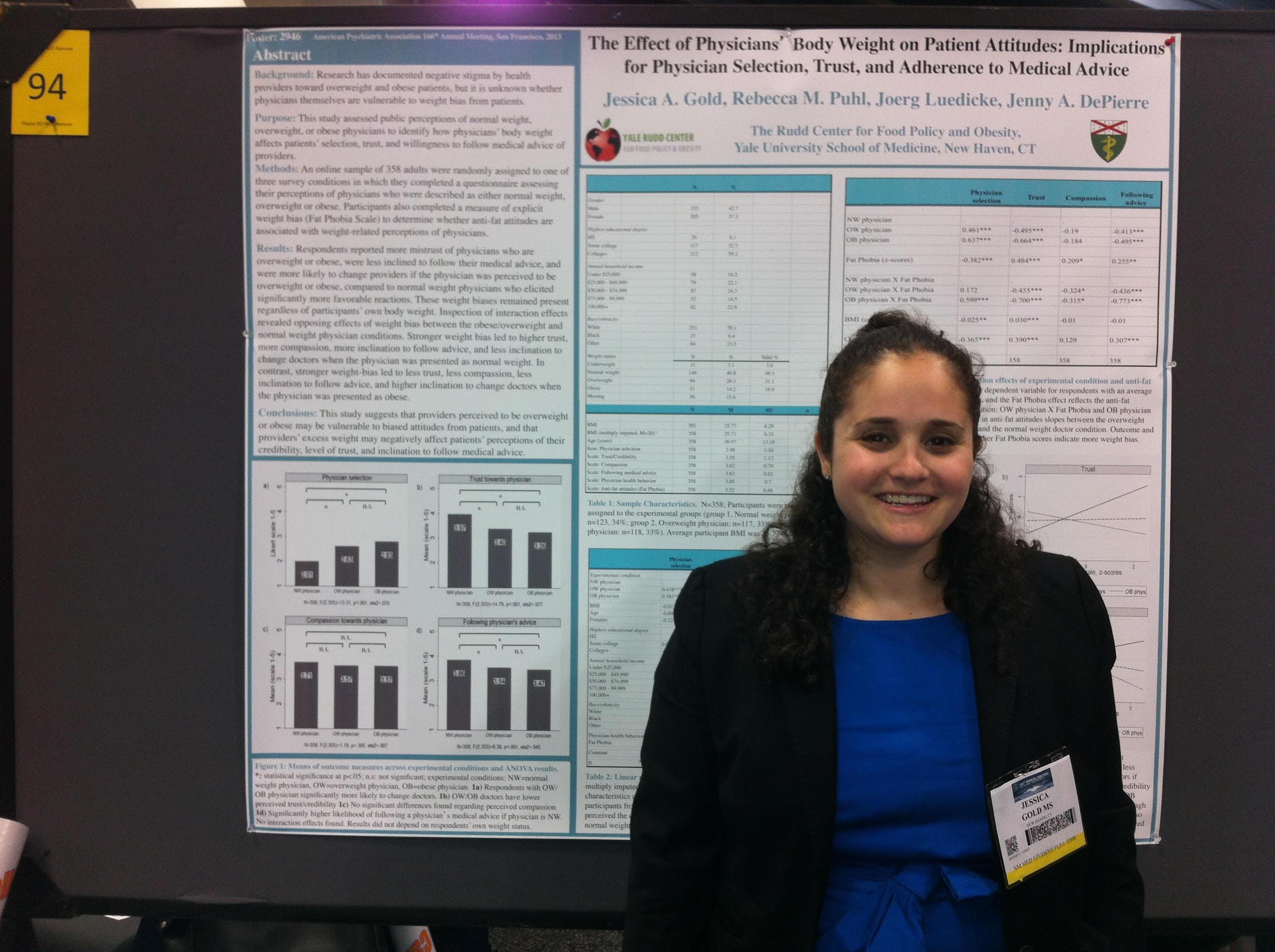 "Dr. Jessica ""Jessi"" Gold presenting her work"